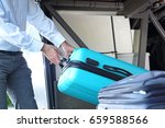 the bus driver gives the... | Shutterstock . vector #659588566