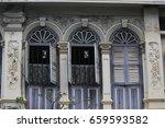 sino portuguese window | Shutterstock . vector #659593582