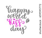 happy world kissing day. the... | Shutterstock .eps vector #659595772