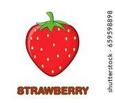 strawberry fruit cartoon... | Shutterstock .eps vector #659598898