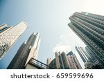 Small photo of Buildings low angle view in Soho, Hong Kong