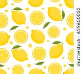 vector seamless pattern with... | Shutterstock .eps vector #659600032