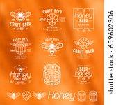 set of honey beer labels ...   Shutterstock .eps vector #659602306