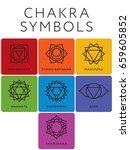 set of seven chakra symbols... | Shutterstock .eps vector #659605852