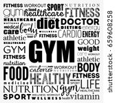 gym word cloud collage... | Shutterstock .eps vector #659608258