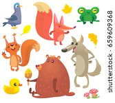 cartoon forest animals set.... | Shutterstock .eps vector #659609368