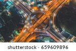 road at night   city scape... | Shutterstock . vector #659609896