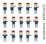 set of businessman characters... | Shutterstock .eps vector #659611672