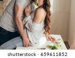 cropped shot of young sensual... | Shutterstock . vector #659611852