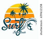 surf vector t shirt design | Shutterstock .eps vector #659612158