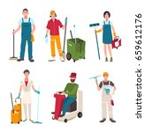 different janitor set. people... | Shutterstock . vector #659612176
