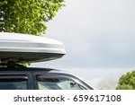 plastic luggage compartment on... | Shutterstock . vector #659617108