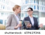 blurred business background... | Shutterstock . vector #659619346