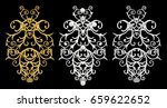 set of decorative elements.... | Shutterstock . vector #659622652