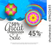 illustration sale banner sale... | Shutterstock .eps vector #659622655