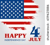 happy 4th of july  ... | Shutterstock .eps vector #659625886