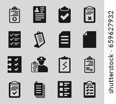 clipboard icons set. set of 16... | Shutterstock .eps vector #659627932