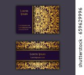 ornamental floral business...   Shutterstock .eps vector #659629996