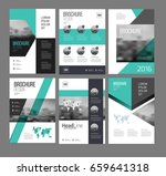 six flyer marketing templates... | Shutterstock .eps vector #659641318