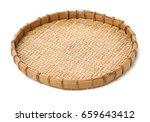 bamboo basket hand made... | Shutterstock . vector #659643412