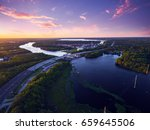 Aerial View Of St. Johns River...