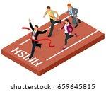 isometric people. entrepreneur... | Shutterstock .eps vector #659645815