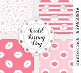world kissing day. set of... | Shutterstock .eps vector #659650816