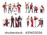 different musical bands. indie  ... | Shutterstock . vector #659653036