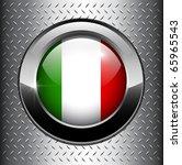 italian  italy flag button on... | Shutterstock .eps vector #65965543