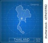 thailand blueprint map template ... | Shutterstock .eps vector #659655982