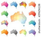 australia geometric polygonal ... | Shutterstock .eps vector #659656138