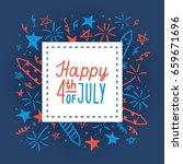 happy fourth of july. card... | Shutterstock .eps vector #659671696