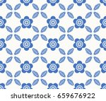 seamless retro pattern with... | Shutterstock .eps vector #659676922