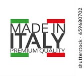 made in italy  premium quality... | Shutterstock .eps vector #659680702