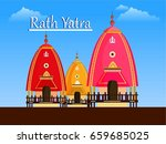 lord jagannath puri odisha god... | Shutterstock .eps vector #659685025