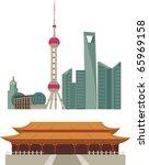 Shanghai Skyline And Beijing...