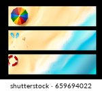 blank banner with copy space... | Shutterstock .eps vector #659694022