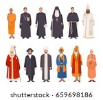 set of religion people.... | Shutterstock . vector #659698186