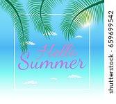 vector summer party poster... | Shutterstock .eps vector #659699542