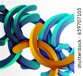 modern 3d geometrical style... | Shutterstock .eps vector #659707105