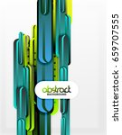 straight blue and green lines...   Shutterstock .eps vector #659707555