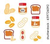peanuts  peanut butter   food... | Shutterstock .eps vector #659726092