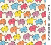 seamless pattern with cute... | Shutterstock .eps vector #659727946