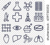 science icons set. set of 16... | Shutterstock .eps vector #659730352