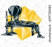 geometric crossfit concept....   Shutterstock .eps vector #659730382