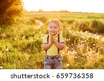 happy  stylish boy clapping and ... | Shutterstock . vector #659736358