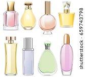 vector fragrance icons | Shutterstock .eps vector #659743798
