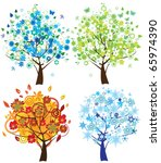 vector season trees | Shutterstock .eps vector #65974390