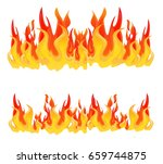 flame  fire  bonfire  cartoon... | Shutterstock .eps vector #659744875