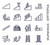 staircase icons set. set of 16... | Shutterstock .eps vector #659745916